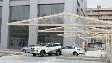 مظلات مواقف وزارة التجاره بجده